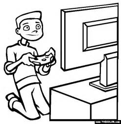 boy playing video game coloring pages kids coloring point coloring point
