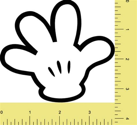 mickey mouse hand printable pattern pictures to pin on