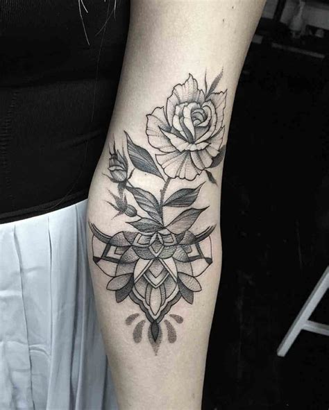 elbow flower tattoo designs inner designs best ideas gallery