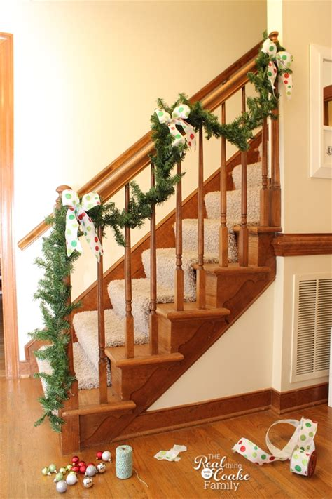 how to decorate a banister 100 how to decorate banister with garland festive holiday staircases and