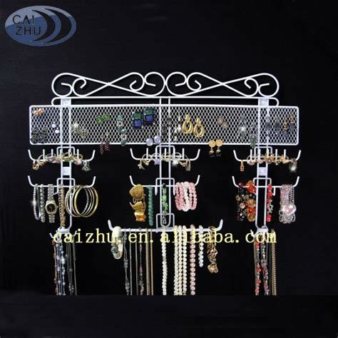 rings wire racks mounted on wall metal wire jewelry display rack jewelry display holder and organizer buy
