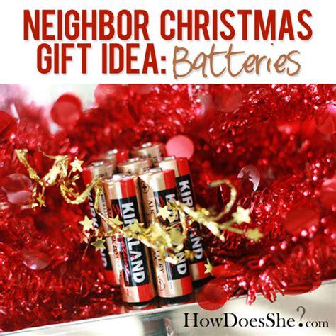 neighbor christmas gift idea 8 free batteries