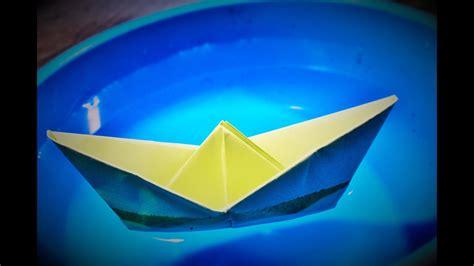 origami  membuat perahu kertas youtube