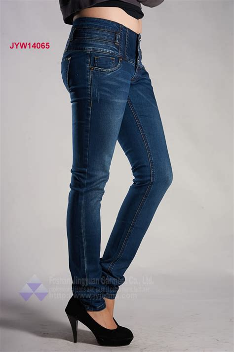 Why Buy Premium Denim by Brand High Waist With 3 Buttons Fashion Denim