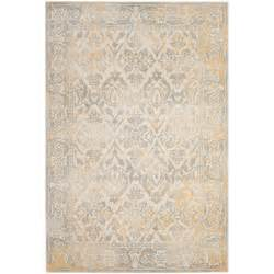 Home Depot Safavieh Safavieh Evoke Ivory Gray 6 Ft 7 In X 9 Ft Area Rug