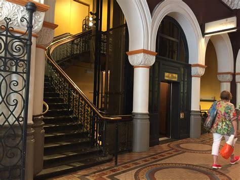 brass wire mesh elevators queen victoria building sydney
