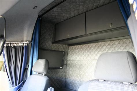 Cabinet Above Fridge Sleeper Cab In Mb Sprinter High With Side Door Right Hand