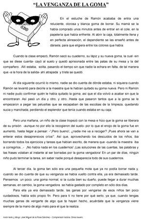 """Cuento corto: """"La venganza de la goma"""" - Actiludis"""