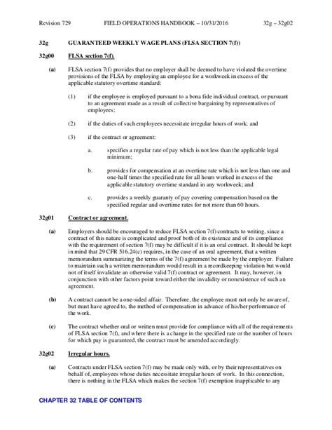 flsa section 7 chapter 32 overtime field operations handbook