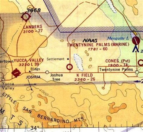 la sectional chart abandoned little known airfields california western