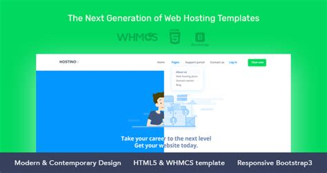 download hostino whmcs web hosting template free nulled