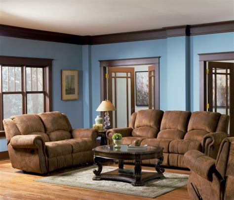 brown walls in living room blue walls and brown furniture my web value