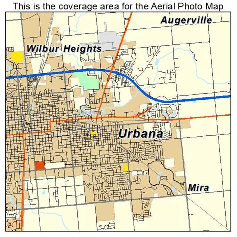 uiuc map aerial photography map of urbana il illinois