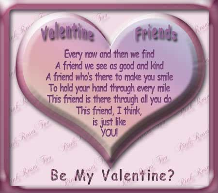 happy valentines day poems for friends welcome to pinkrosestoo friend