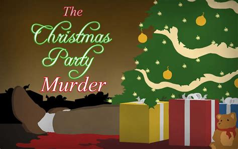 murder at the christmas party mystery game shot in the