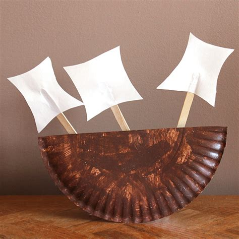 how to make a paper plate boat thanksgiving paper plate boat fun family crafts