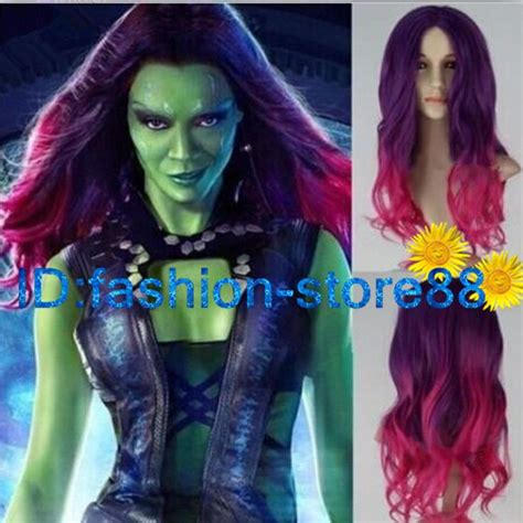 guardians of the galaxy wig gamora 4999 wigs new guardians of the galaxy gamora wig synthetic long wavy