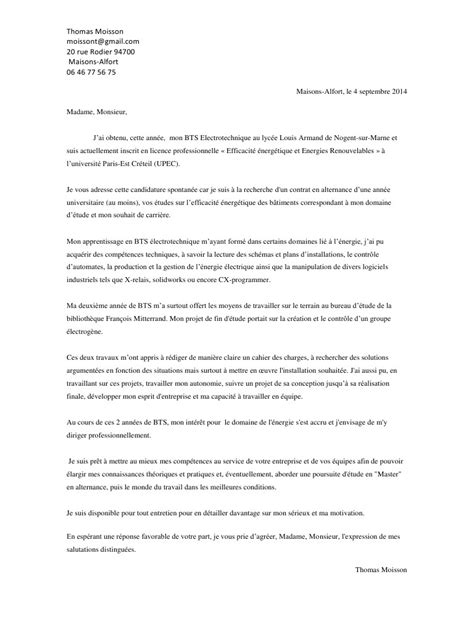 Modèle De Lettre De Motivation Pour Master Pdf Lettre De Motivation Thomas Moisson Pdf Par