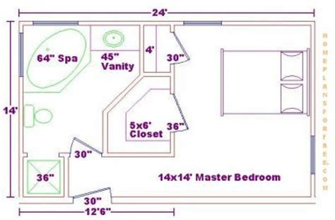 Master Bedroom Floor Plans With Bathroom Master Bedroom 14x24 Addition Floor Plans With Master Bathroom Layout And Closet Ideasmaster
