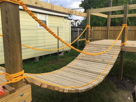 backyard rope bridge best 25 kids backyard playground ideas on pinterest