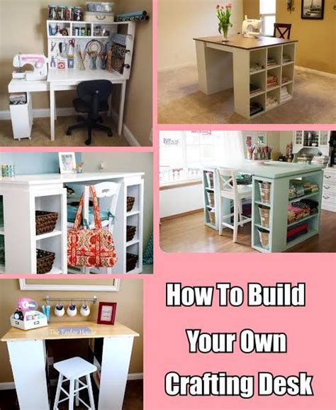 how to build your own crafting desk diy cozy home home