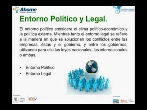 tema 11 entorno político y legal. youtube