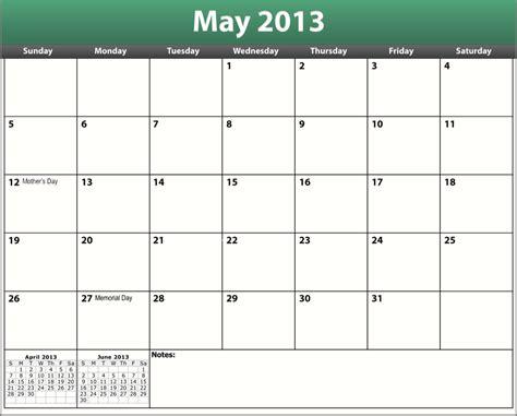 2013 Calendar Printable Printable Pdf May 2013 Calendar Francis