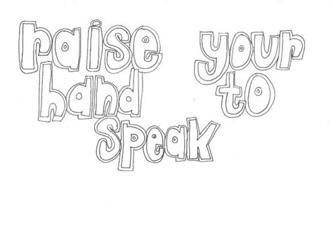 coloring pages school rules raise your hand to speak classroom rules colouring page