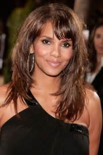 layered hairstyles with bangs for americans that hairs thinning out hair cut halle haley berry halle berry layered long