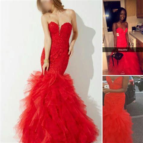 ultra feminine tight  fitted red prom dress custom