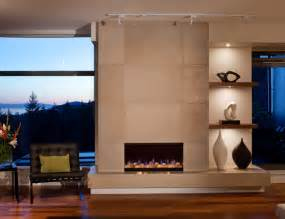 concrete fireplace tiles contemporary calgary by