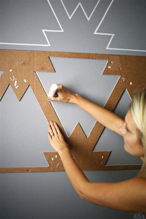 wandmuster streichen mit farbe wandmuster streichen kreative wandgestaltung