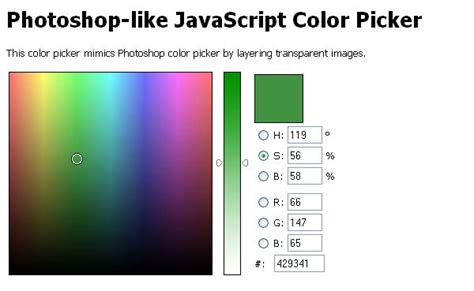 html color picker 10 cool color picker scripts jquery idesignow