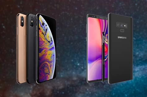 iphone xs max  samsung galaxy note  comparatif  differences