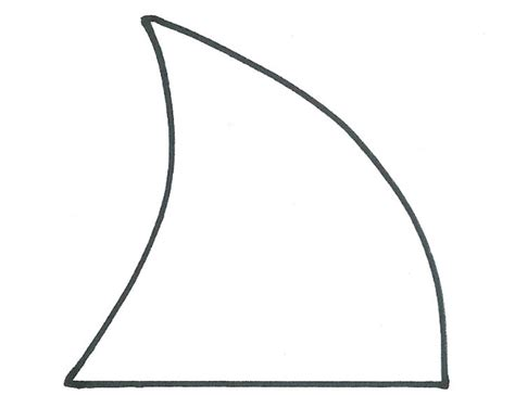 shark fin template shark week megalodon fin template it