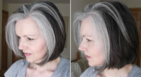 images of grey hair in transisition women with fabulous middle long gray hairstyles