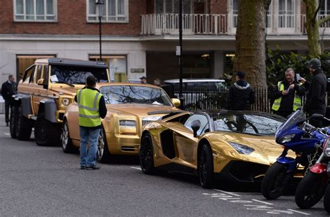 golden cars a saudi who flew into uk with gold supercars walks away
