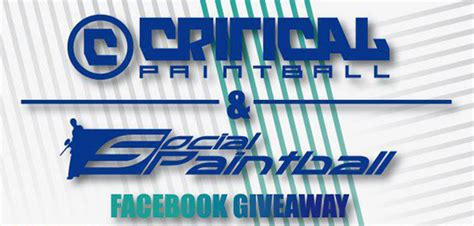 Paintball Giveaway - winner announced for critical social paintball facebook giveaway social paintball