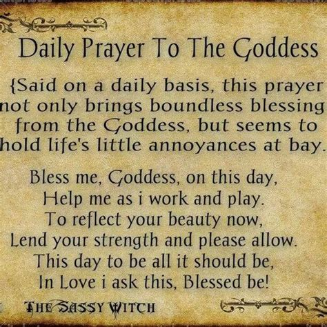 wiccan prayer daily prayer to the goddess pagan magikal mystical