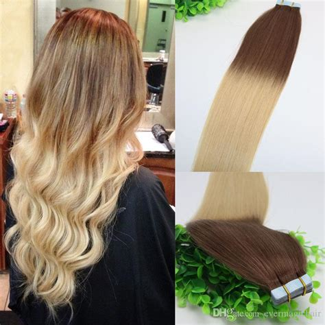 ombre weave hair st ombre hair dark brown 4 shade to golden blonde 613 tape