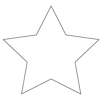 printable star outline star shape templates and patterns star template a