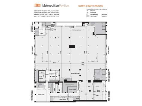 pavilion floor plan full service chelsea event space metropolitan pavilion
