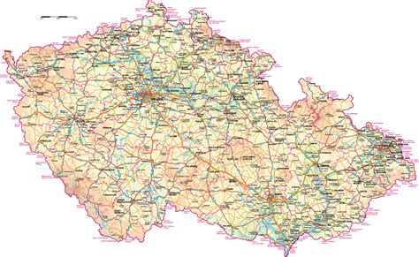 czechoslovakia map maps of republic detailed map of the republic in travel map of