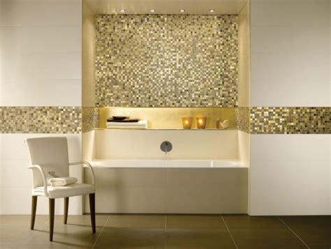 gold badezimmer fliesengestaltung im bad ideen f 252 r farben und formenspiele