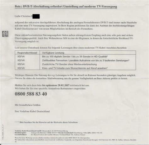 Offizieller Brief Deutschland Vodafone Imitiert Amtsbrief Und Verdreht Fakten Um Kunden Zu Gewinnen