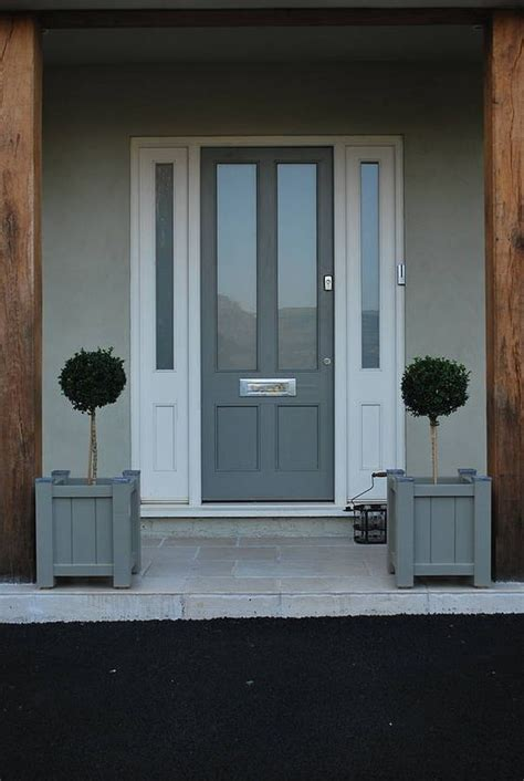 Painted Garden Planter Sarratt Range Gardens Grey And Gray Front Doors