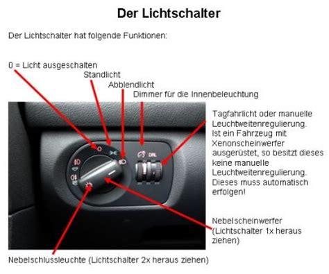 Lichter Im Auto by Um Die Nebelschlussleuchte Auto Licht