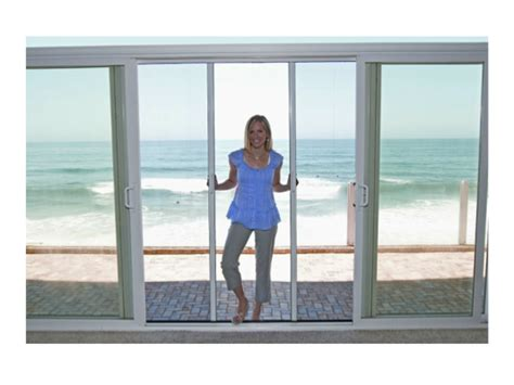 Sliding Screen Door With Dog Door Built In French Sliding Patio Doors Screenman Mobile Screening