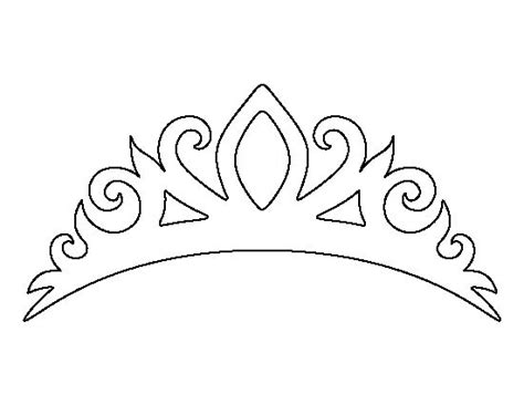 heart crown coloring page tiara pattern use the printable outline for crafts