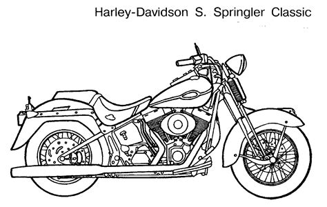 motor bikes free colouring pages